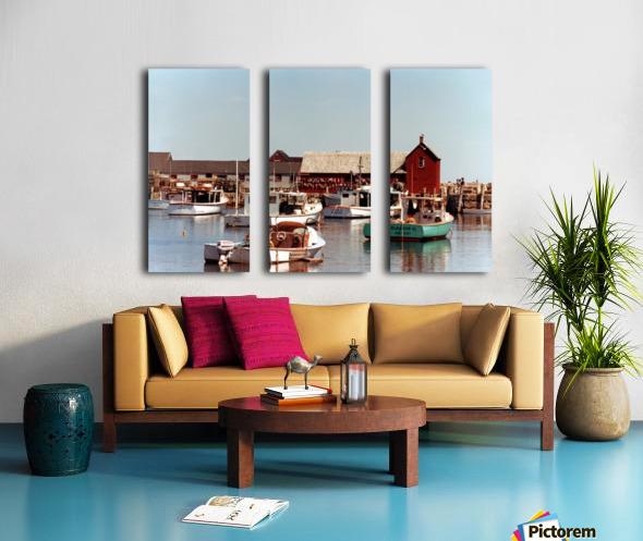 rockport retouched Split Canvas print