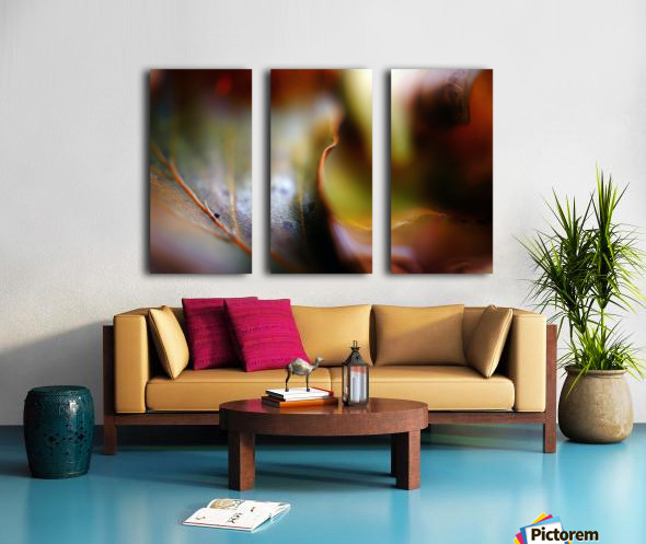 Abstract Mystic and Colourful Leaf 01 Split Canvas print
