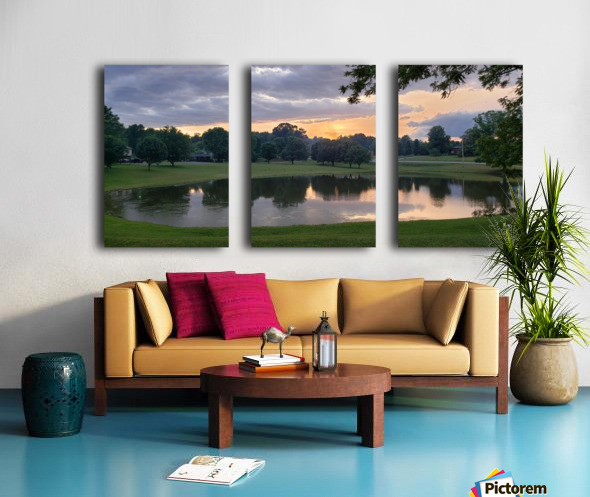 Sunset Pond Split Canvas print