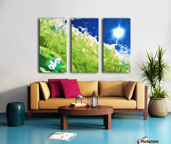 Sun & Surf Split Canvas print