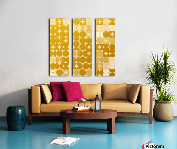 Geometric XIX v2 Split Canvas print
