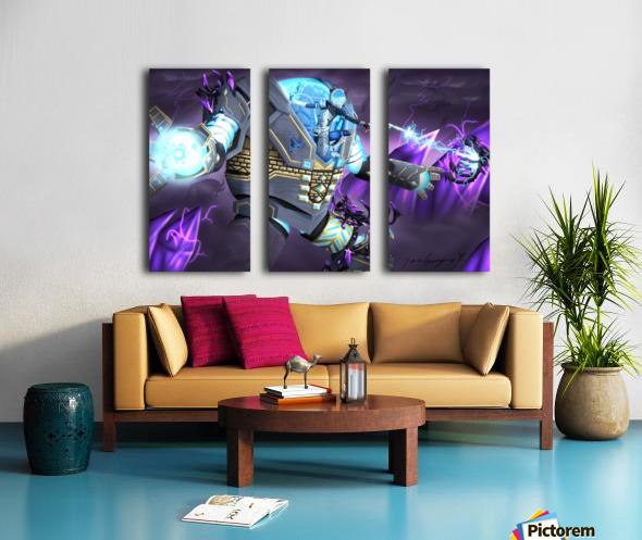 -Power Suit Fall- Split Canvas print