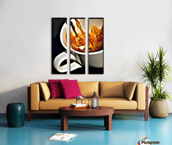 Coffee Pour  Split Canvas print