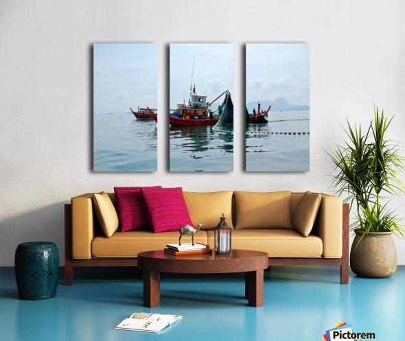 Bangkok - The Fisherman Split Canvas print