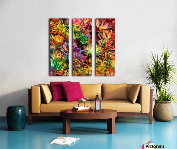 Rainbow Floral Split Canvas print