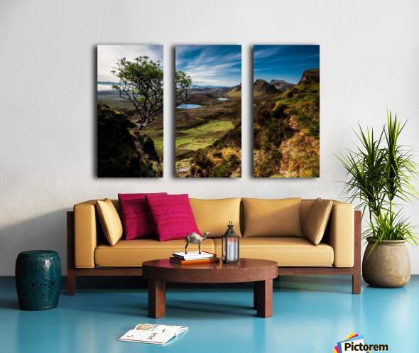 landscape quairaing scotland Split Canvas print