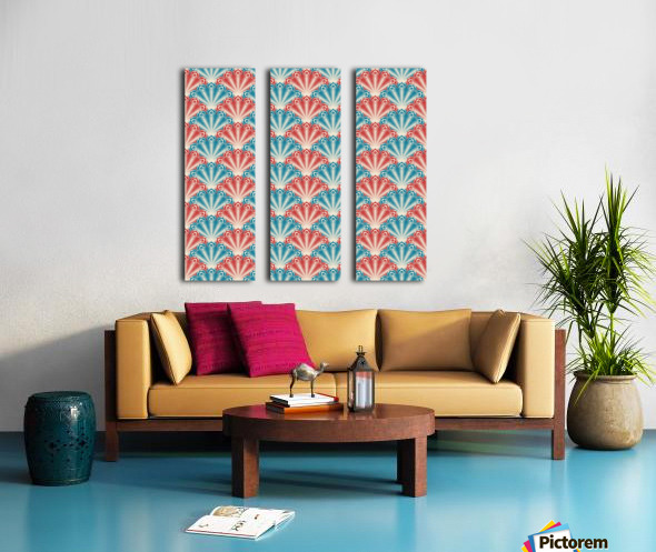 seamless patter peacock feathers Split Canvas print
