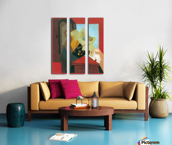 The window of the painter by Juan Gris Split Canvas print