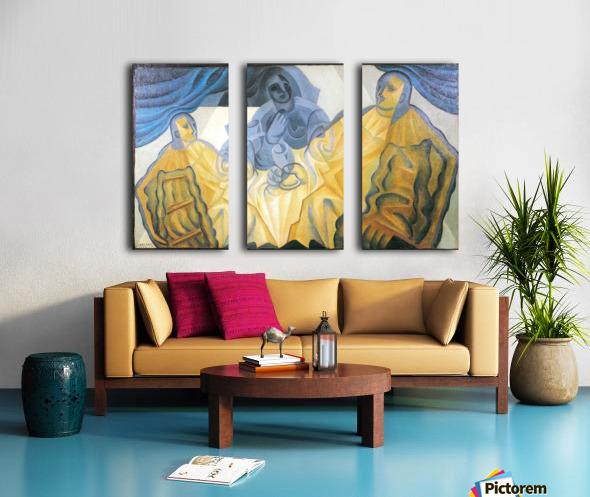 Three masks by Juan Gris Split Canvas print