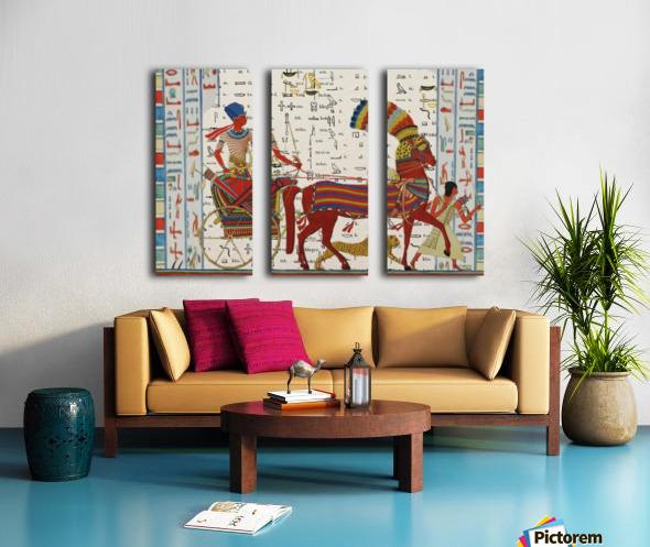 egyptian tutunkhamun pharaoh design  Split Canvas print