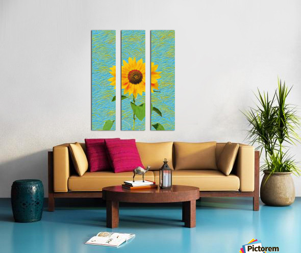 Sunflower. Split Canvas print