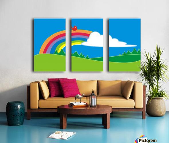 natural cloud field grass Split Canvas print