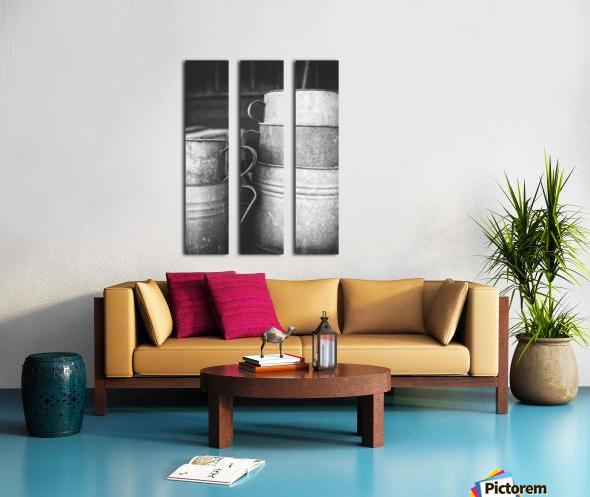 Stacked Split Canvas print