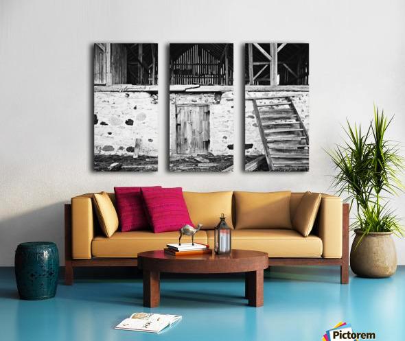 Barn Steps Split Canvas print