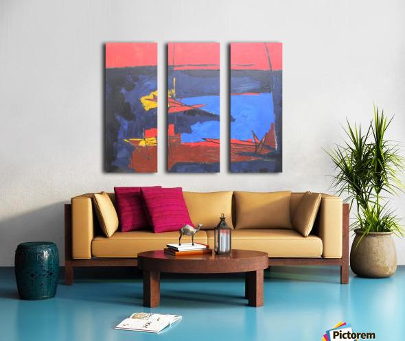 08 Split Canvas print