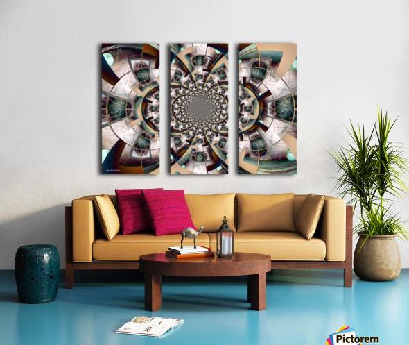 Graphic Ornamental Colorful Split Canvas print