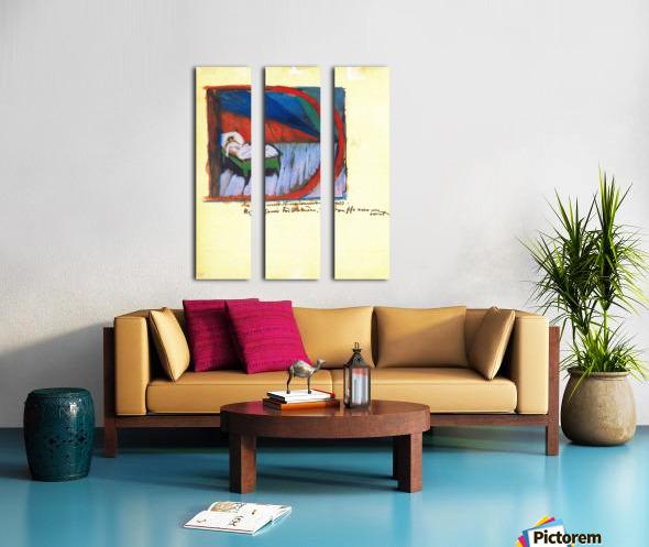 Vignette D by Franz Marc Split Canvas print