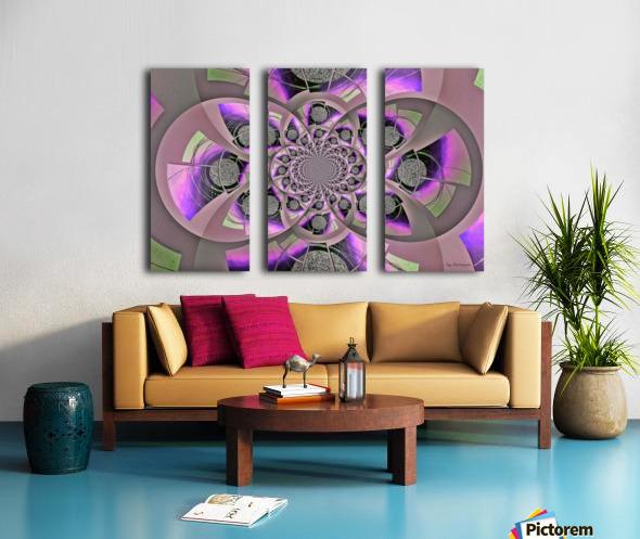 Mirror Infinity Lilac Split Canvas print