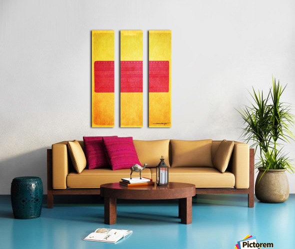 Redbox Split Canvas print