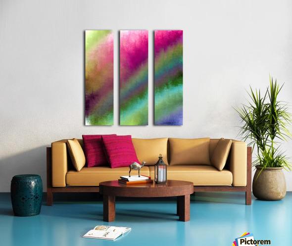 Color Burst - Flower Field Split Canvas print