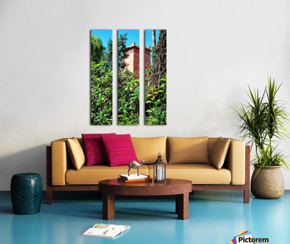 Tower At Jardin Majorelle Marrakech Split Canvas print