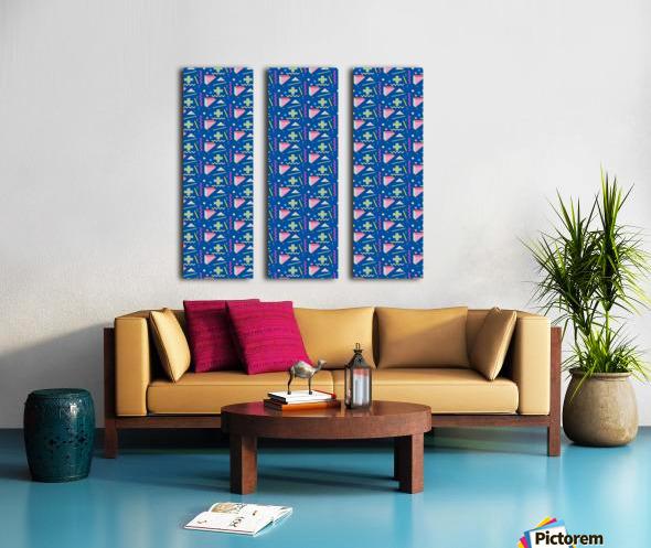 memphis pattern Split Canvas print