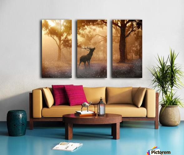 hirsch wild antler nature forest Split Canvas print
