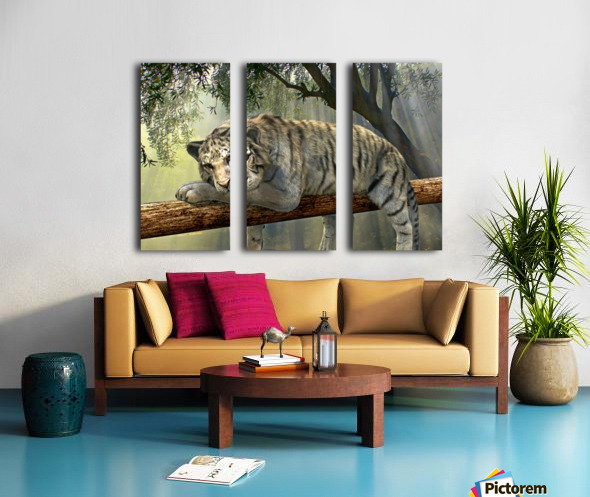 tiger animal jungle rainforest Split Canvas print