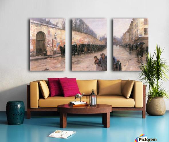 Rue Bonaparte by Hassam Split Canvas print