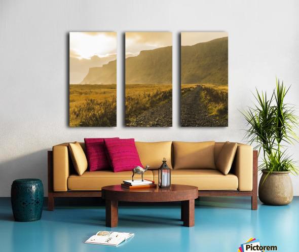 Icelandic sunset in Vik Iceland Split Canvas print