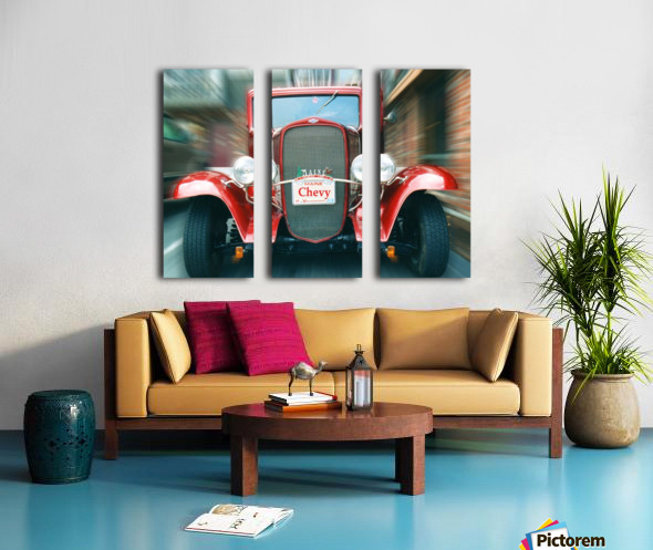 Classic Maine Chevy Split Canvas print