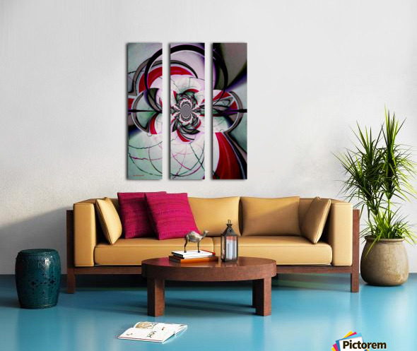 Broken Symmetry Red Split Canvas print