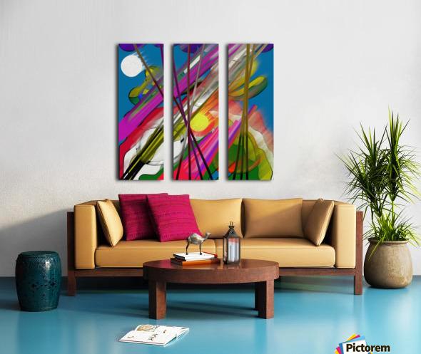 Happy Colors Split Canvas print