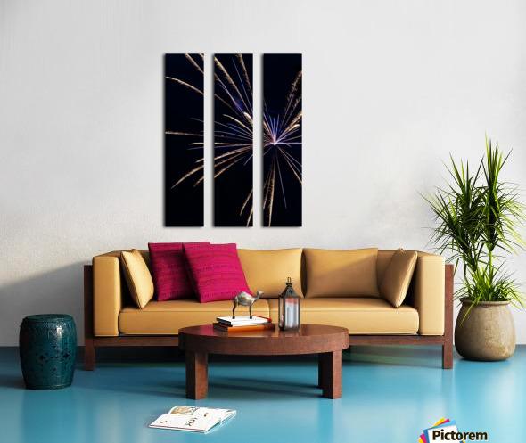 Fireworks 2019 24 Split Canvas print