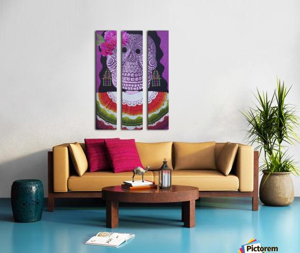 la dama Split Canvas print