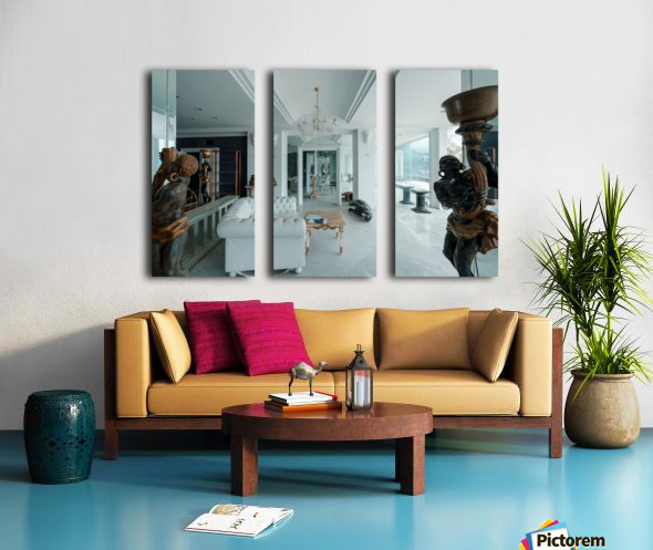 Abandoned Billionaires Mansion Split Canvas print
