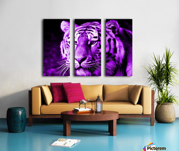 Tiger pop purple Split Canvas print