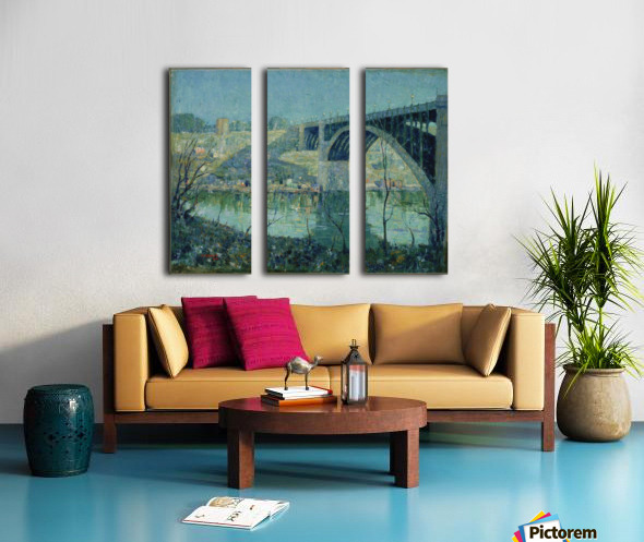 Spring Night Harlem River Split Canvas print
