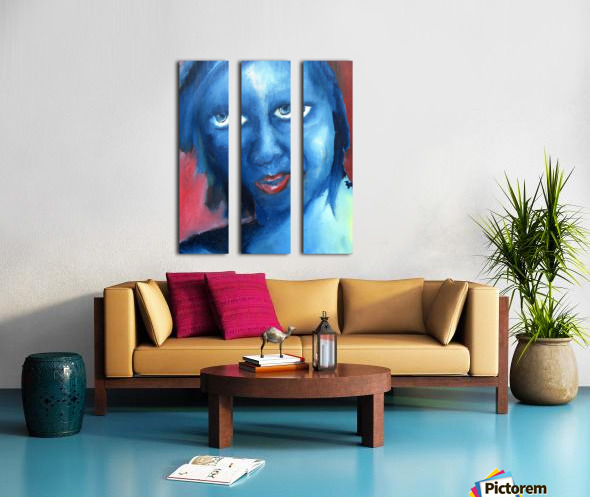 Feeling Blue Split Canvas print