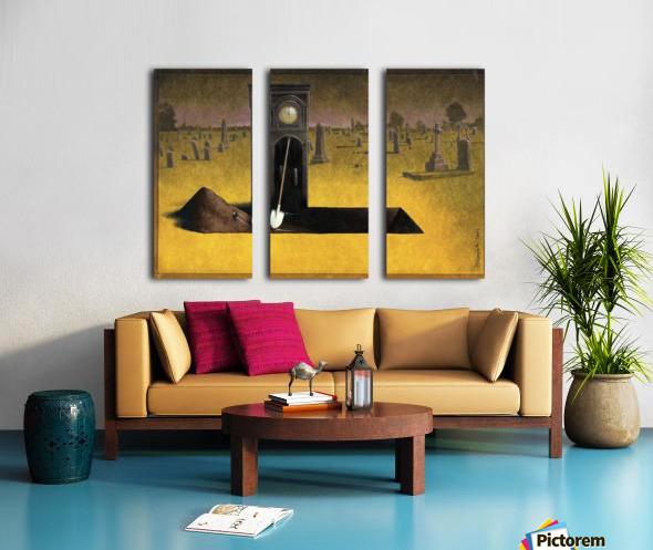 clock Split Canvas print