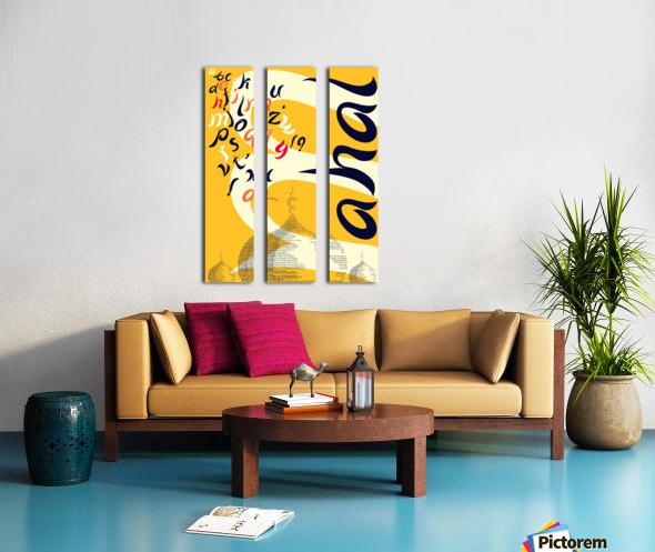MAHAL Split Canvas print