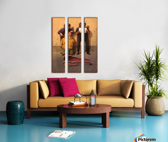 Violon Split Canvas print