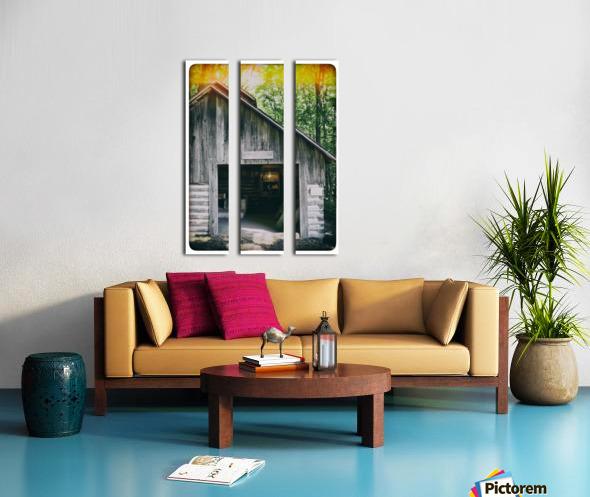 The Maple Shack Split Canvas print