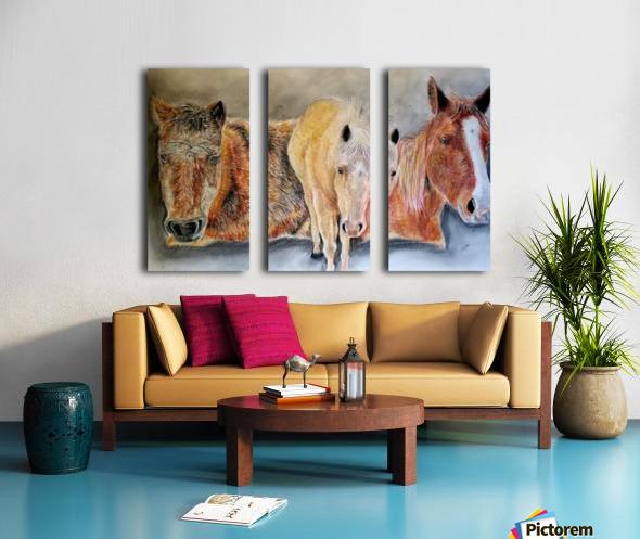 three horses Split Canvas print