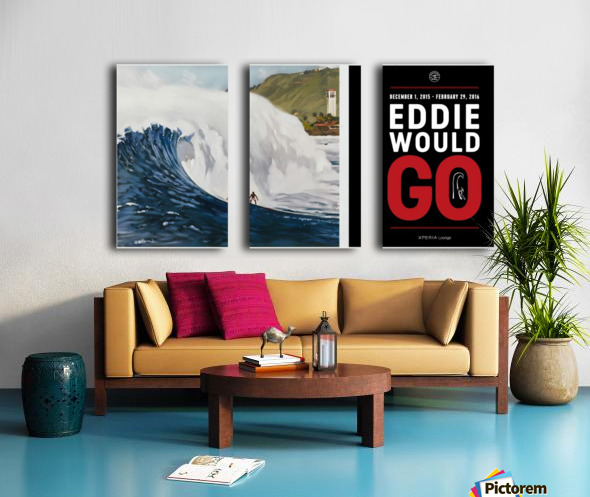 2015 QUIKSILVER - EDDIE AIKAU Big Wave Invitational Surfing Competition Print Split Canvas print