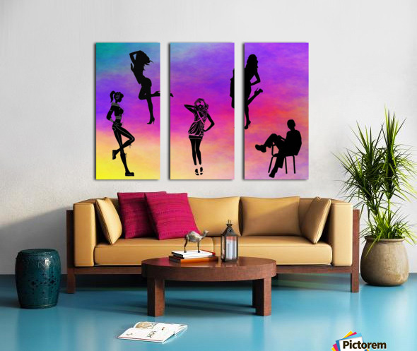 Silhouette 1 Split Canvas print