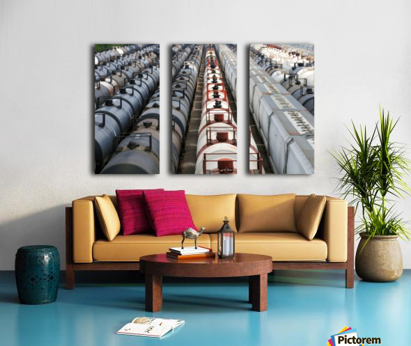 The Rail Yard - HDR Split Canvas print