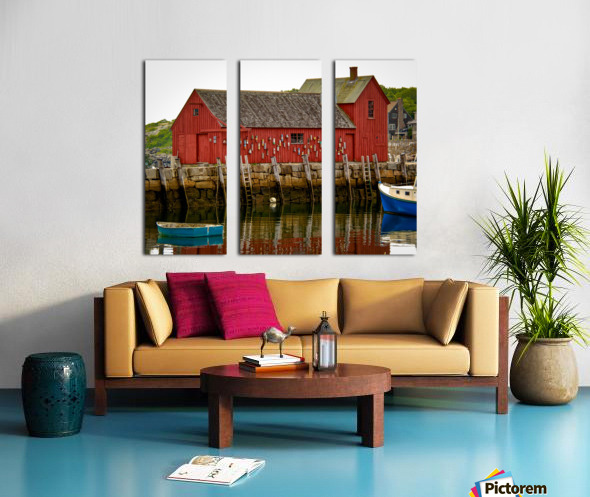 Motif Number 1 - Rockport MA Split Canvas print