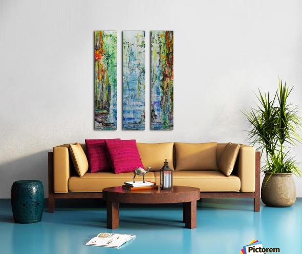 Dream Waterfall Split Canvas print