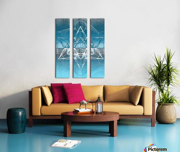 Cube of Metatrone Handdrawing Split Canvas print